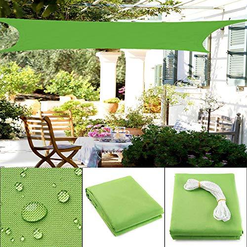 ZHENN Sonnensegel Sonnenschutz rechteckig schattensegel wasserdicht UV-Schutz luftdurchlässig Schattiernetz Garten Balkon Terrasse Camping Markise Grün,2.5x3m/8'x9.5'