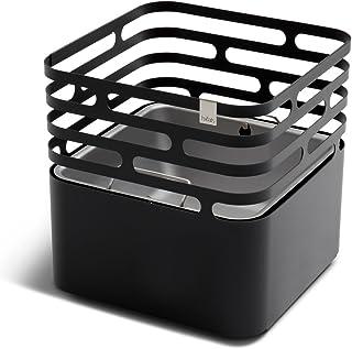 höfats - CUBE Feuerkorb - als Feuerstelle, Grill, Hocker und Tisch - für Garten und Terrasse - Edelstahl - schwarz