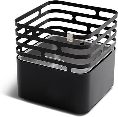 höfats - Cube brasero - comme Foyer, Gril, Tabouret et Table - pour Jardin et terrasse - Acier Inoxydable - Noir