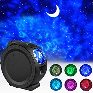 Star Projector, 3-in-1 LED Night Light Projector with Moon Star Nebula Cloud Christmas Projector Light with Touch&Voice Co...
