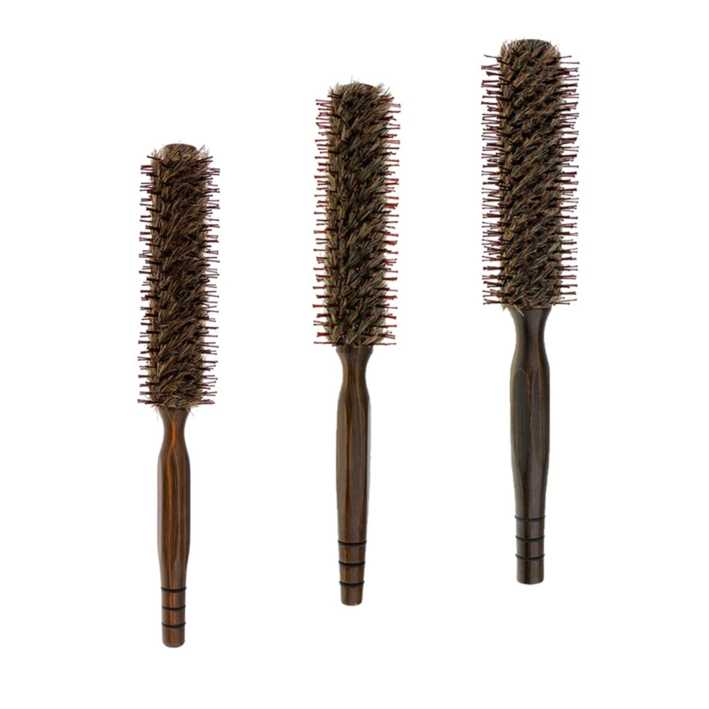 持ってる良さ哲学B Baosity 3本 ヘアブラシ 木製櫛 ロールブラシ プロ 美容師 ヘアサロン 自宅用