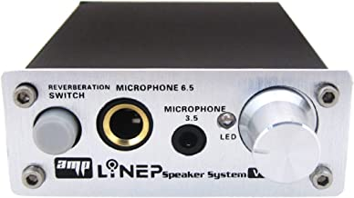 Echo Mic Preamp 2-Channel Audio Mixer 3.5mm/6.5mm Dual Microphone Echo Amplifier Computer Micphone Preamplifier Made of Al...