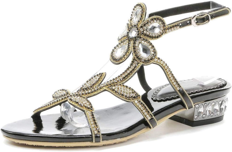 LizForm Open Toe Floral Patterned Studded Flat shoes Comfort Strappy Ankle Strap Sandals