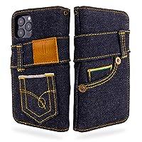UK Trident 岡山デニム iPhone12 ケース / iPhone12 pro ケース 手帳型(アイフォン12ケース / アイフォン12プロケース) 日本製セルビッチ カード収納 おしゃれ iPhone 12 / iPhone 12 Pro ケース(6.1インチ)