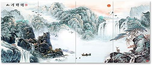 Emisores térmicos ZR Mural Cristal Carbono Mural Cálido Calefactor Eléctrico Pared Hogar Ahorro Energía Provincia 4 Murales (Color : 1006)