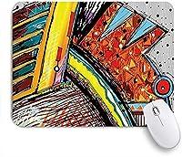 EILANNAマウスパッド ファンキーで巧妙な抽象的な奇抜なオリジナルの音楽パターンとブラシストローク効果の画像 ゲーミング オフィス最適 高級感 おしゃれ 防水 耐久性が良い 滑り止めゴム底 ゲーミングなど適用 用ノートブックコンピュータマウスマット