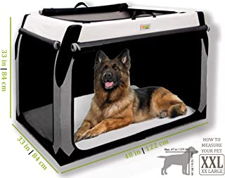 DogGoods Foldable Travel Kennel and Soft Dog Crate for Car Camping Collapsible Soft Sided XL Dog Crate, Folding Dog Kennel - Multiple Sizes - Dog Crates for Large Dogs XL Dogs Medium Dogs Small Dogs.