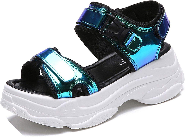 Women Sandals Ladies Casual shoes Bling Wedges Buckle Strap Platform shoes 5 cm Summer Sandals