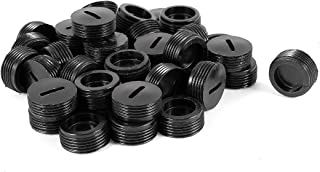uxcell Replaceable Round 15.3mm Dia Screw Motor Carbon Brush Holder Cap 40PCS