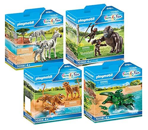 PLAYMOBIL Animali africani Zoo Set 4 pezzi: 70356 70358 70359 70360