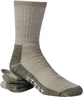 Merino Wool Socks, RTZAT 65% Wool Thermal Outdoor Hiking Trekking Crew Socks, Men&Women, 1/2/4 Pairs
