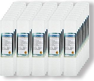 FILTER Lot de 50 Cartouches de filtres, 1 microns, 10x 2.5 inch, Absorption de sédiments, du Sable, de la Rouille et des P...