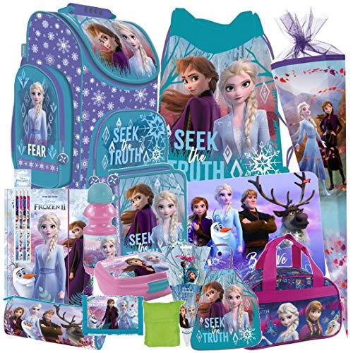 Disney Frozen 2 II EISKÖNIGIN 23 Teile Set Schulranzen RANZEN SCHULTÜTE 85 cm Tornister Federmappe Sporttasche