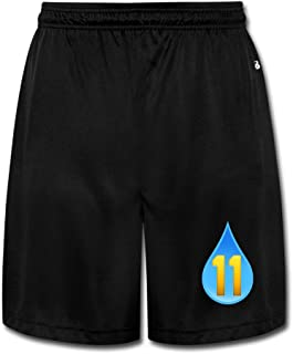Men's Cool Basketball Player #11 Short Walkout Pants Black