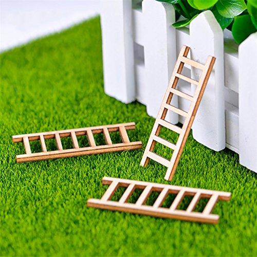 Bismarckbeer Kit jardin de fée, 10 pièces Lapins miniatures en résine pour maison de poupée jardin de fées décoration, Bois dense, N°4, Taille unique