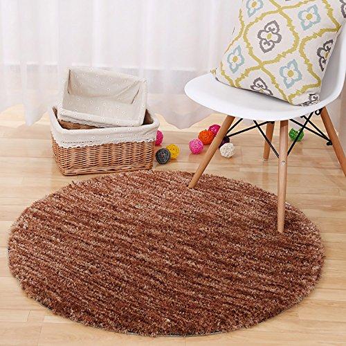 ZZHF Kreativer gerundeter/Schwenkstuhl-Teppich/Computer-Stuhl-Kissen/Wohnzimmer-Matten/Schlafzimmer-Bett-Fuß-Fußmatte 4 Farben vorhanden Teppich Wohnzimmer (Farbe : A, größe : 1M)