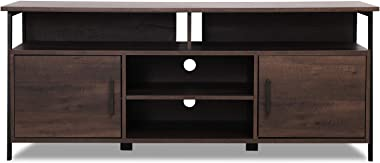 "Sekey Home 58"" Entertainment Center Wood Media TV Stand 