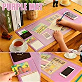 SurprisingMall School Desk Pad, Innovative Huge Gaming Mouse Pad 27'x12.6' PVC Natural Gel Desk Protector with Pockets, Dividing Rule