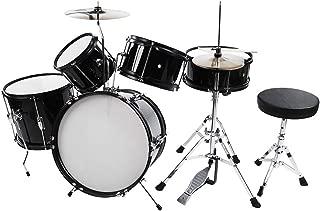 Yosoo Beginners Drum Kits, Junior 12 Piece Kids Drum Set- 5 Drums, 2 Cymbals, 2 Drumsticks, Stool, Drum Pedal, Drum Key, for Children Boys and Girls
