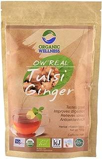 Organic Wellness OW' Real Tulsi Ginger Green Tea Zipper Pouch (100 grams / 3.53 oz)