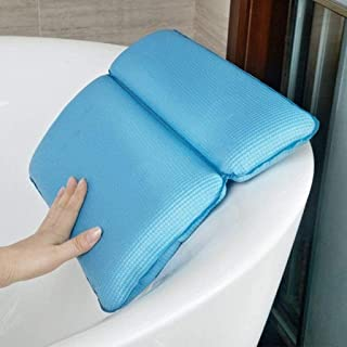 YXHMdd Bathtub Pillow with 7 Suction Cups, Bath Pillow and Spa Head Rest Bath Cushion Bathing Pillows