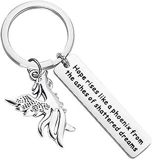 WSNANG Phoenix Keychain Phoenix Reborn Gift Hope Rises Like a Phoenix Bird Jewelry for Friends Graduation Phoenix Encourag...