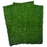 "Artificial Dog Grass Pee Pad 20""x 25"", Indoor Potty Training Replacement Turf for Puppy, Easy to Clean with Strong Permeability, 2-Pack"