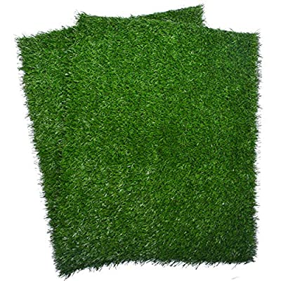Amazon - Save 15%: Artificial Dog Grass Pee Pad (2-Pack), Indoor Potty Training Replacement Tur…