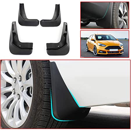 Muchkey no dril car mud Flaps for Ford Focus ST Sports 2012 2013 2014 2015 2016 Splash Front and Rear Guards 4pcs/Set