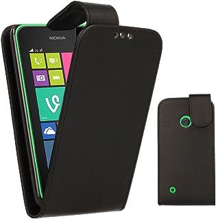 TECHGEAR Nokia Lumia 530 tuff robust tung skyddande skyddande skal med stativ + skärmskydd med rengöringsduk, BLACK (FLIP)