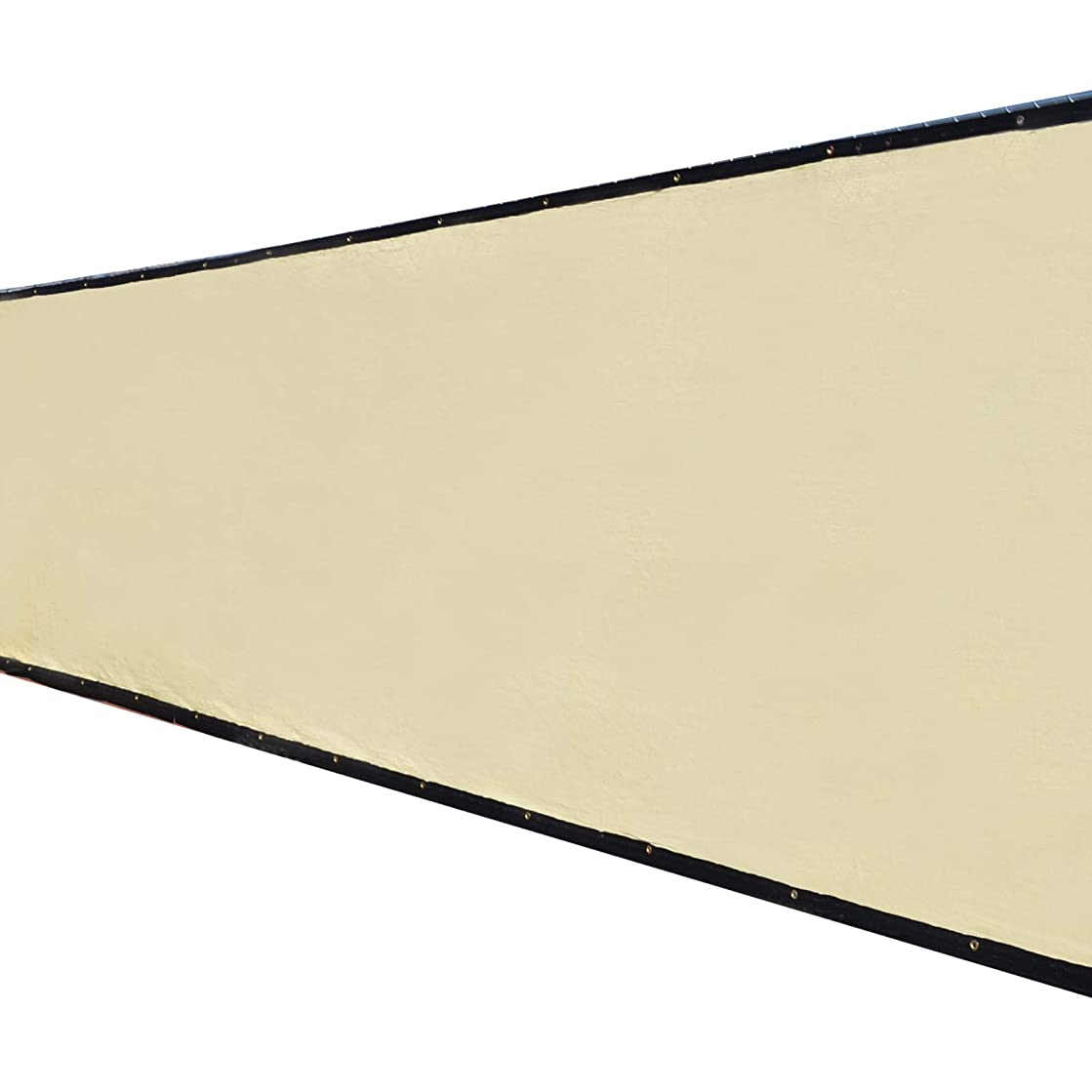6'x50' 3rd Gen Tan Fence Privacy Screen Windscreen Shade Cover Mesh Fabric (Aluminum Grommets) Home, Court, or Construction