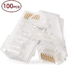 Postta RJ45 CAT5 CAT5E CAT6 Connector 8P8C UTP Gold Plated Ethernet Crystal Head 100 Pieces
