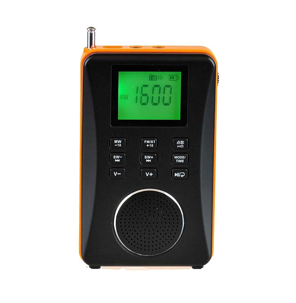 LVESHOP 3-in-1充電式AM / FM短波ラジオ、ポータブルスピーカー、マイクロSD / TFカードリーダー内蔵のMP3プレーヤー