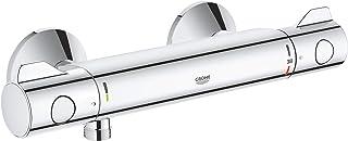 GROHE 34558000 Grohtherm 800 Thermostaat Bruisbatterij, met Geïntegreerde Mengwaterafvoer en Veiligheidsslot bij 38 ° C, C...