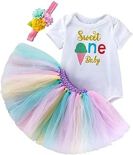 Newborn Baby Girls 1st Birthday Cake Smash Outfit Romper + Skirt + Headband Mermaid Bodysuit Party Photo Props