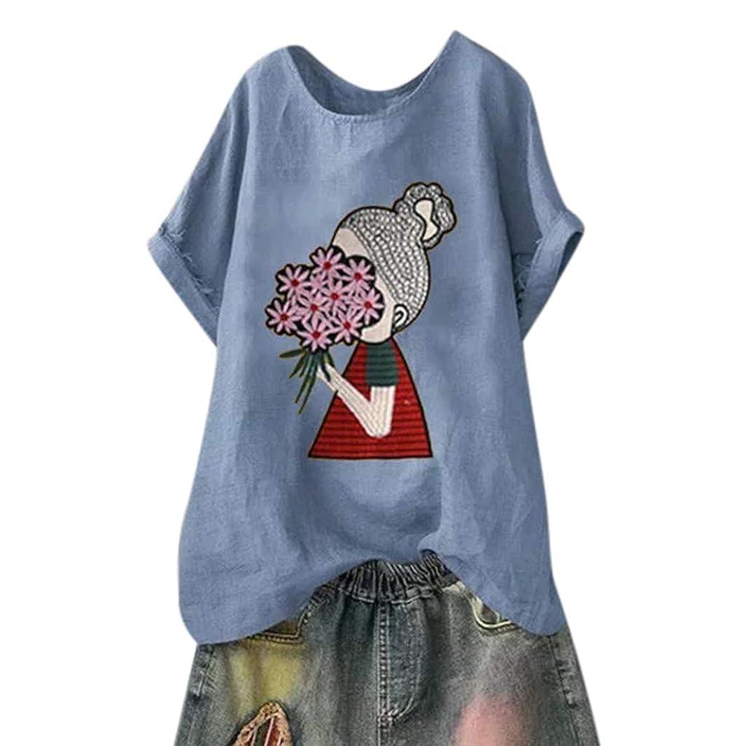 天使ブランク食物レディース Tシャツ おおきいサイズ 半袖 丸首 象 魚の骨 クジラ 少女柄 トップス お出かけ ワイシャツ 安い 流行り ブラウス 快適な 柔らかい かっこいい カジュアル オシャレ 学生 洋服 綿麻