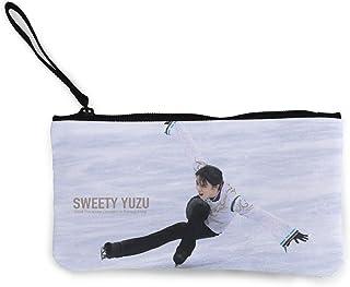 羽生結弦 はにゅう ゆづる Yuzuru Hanyu 小銭入れ ワレット 財布 キャンバス ジッパー付きハンド 大容量