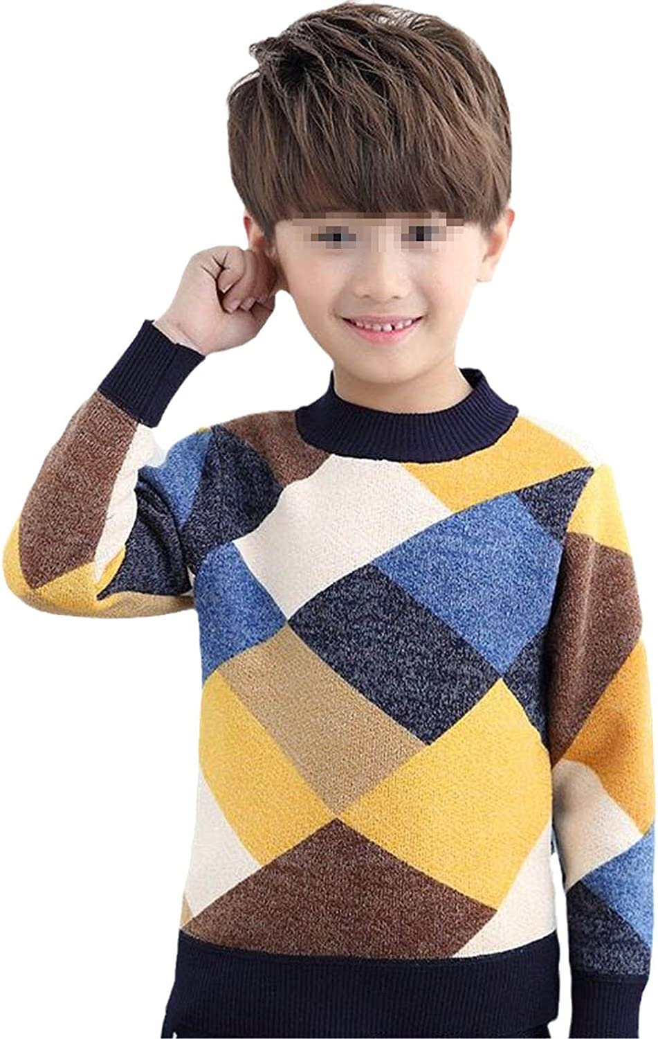 Boys Sweaters Baby Stripe Plaid Pullover Knit Kids Clothes Autumn Winter Tops Children Sweaters Boy Clothing O-Neck