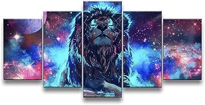 Quadro Decorativo 129x63 Sala Quarto Leão No Universo