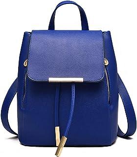 Pahajim Womens Bag Backpack Purse PU Leather Zipper Bags Fashion Casual Rucksack Satchel and handbag