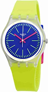 Swatch Originals Accecante Blue Dial Silicone Strap Unisex Watch GE255