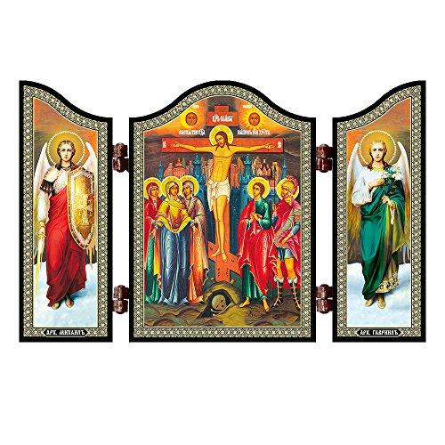 NKlaus 1428 Kreuzigung Christi christliche Ikone Raspjatie Hristovo Reise Altar