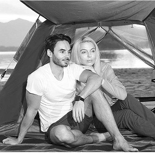 MJY Tente tente extérieure tente hydraulique pluie épaississement tente tente de camping 3-4 personnes tente de camping,rouge,215  215  142cm