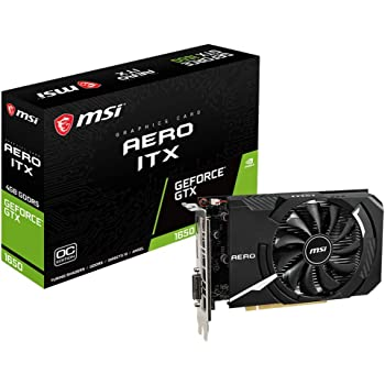 MSI GeForce GTX 1650 AERO ITX 4G OC Graphics Card [Domestic Authentic Distributor]