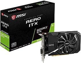 Msi Geforce GTX 1650 Aero ITX 4G OC Tarjeta Gráfica (4 GB, GDDR5, 128 bit, 7680 x 4320 Pixeles, Pci Express x 16 3.0), Negro/ Plata