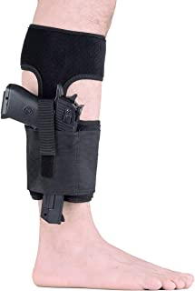 JetSur Ankle Holster for Concealed Carry | Universal Leg Carry Gun Holster with Magazine Pouch for Glock 42, 43, 36, 26, S&W Bodyguard .380.38, Ruger LCP, LC9, Sig Sauer