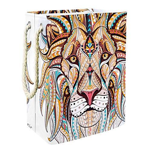 Tête de lion couleur Panier de Rangement de Jouets Pour Enfants de Grande Capacité Boîte de Rangement Bin Salle de jeux Enfants Garçons Filles Collection Jouets 49x30x40.5cm