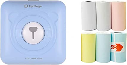 $63 » UpdateClassic Mini Thermal Printer, Portable Bluetooth Thermal Printer with 6 pcs Printing Paper 58mm Mini Wireless POS Th...