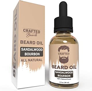 Best Beard Oil for men – Crafted Beard Oil Conditioner - Sandalwood Bourbon Scent – All Natural Beard Oil and Mustache Oil...