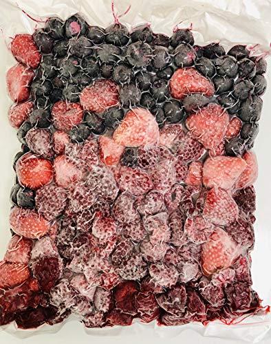 冷凍スリーベリーフルーツ(いちご、ブルーベリー、ラズベリー)2kg (1000g×2)【送料無料、消費税込み】 冷凍ミックスベリー